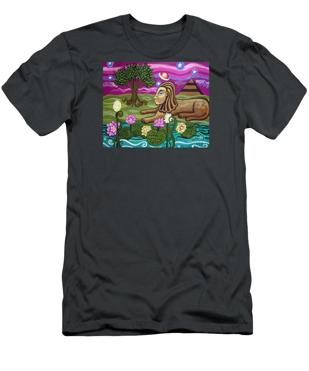 Egypt T-Shirt featuring the painting The Sphinx by Genevieve Esson
