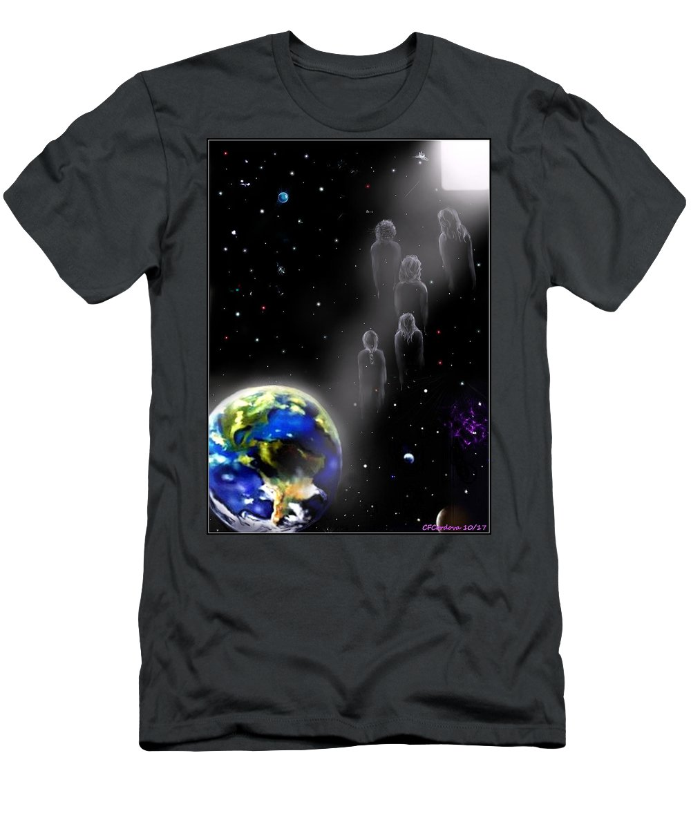Spiritual Men's T-Shirt (Athletic Fit) featuring the digital art The Spiritual Journey by Carmen Cordova