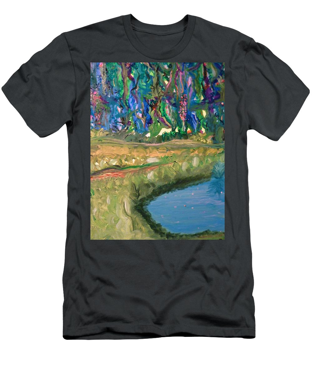 Impressionistic Men's T-Shirt (Athletic Fit) featuring the painting The Stuff Dreams Are Made Of by Sara Credito