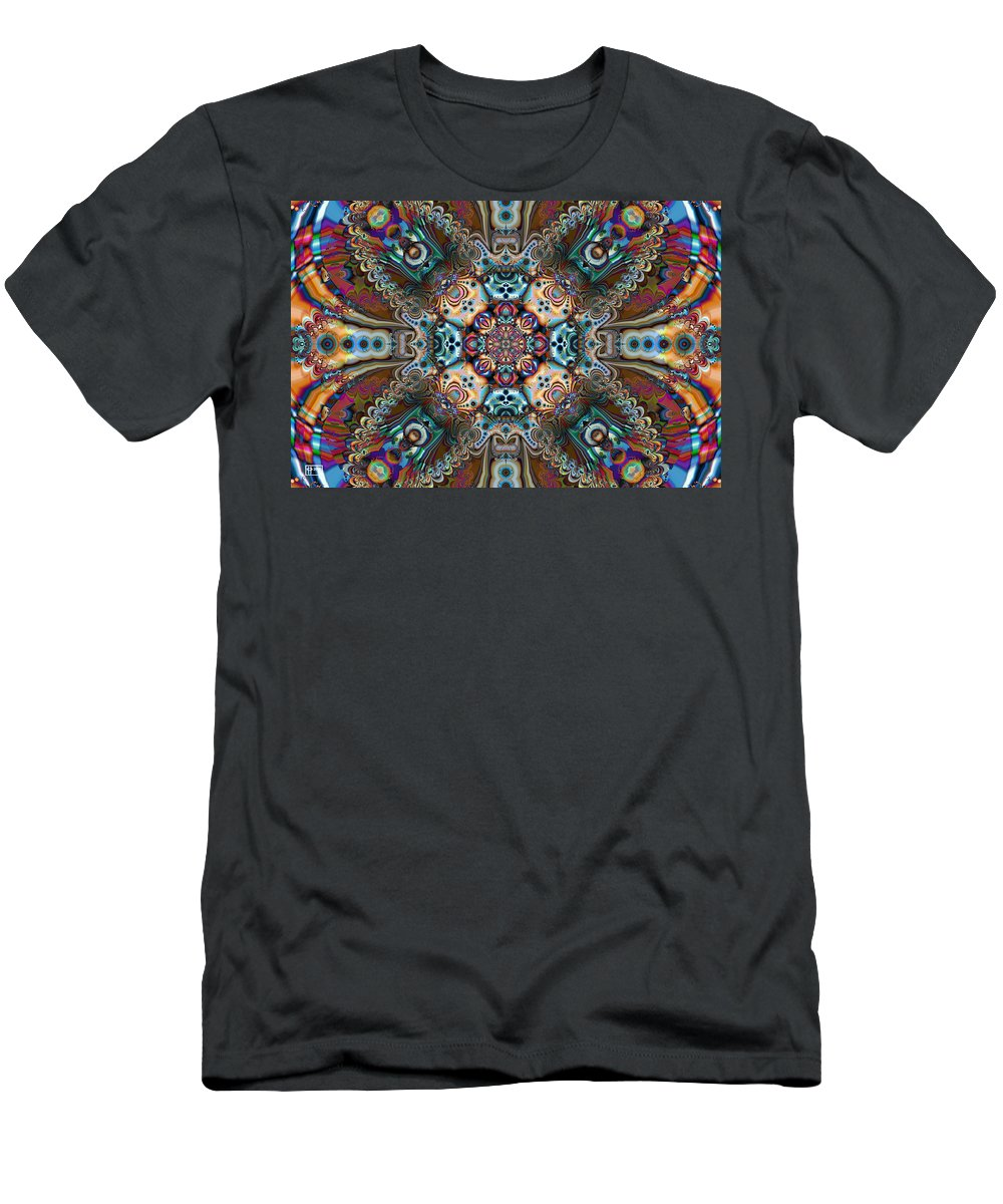 Abstract Men's T-Shirt (Athletic Fit) featuring the digital art The Summer Of Love by Jim Pavelle