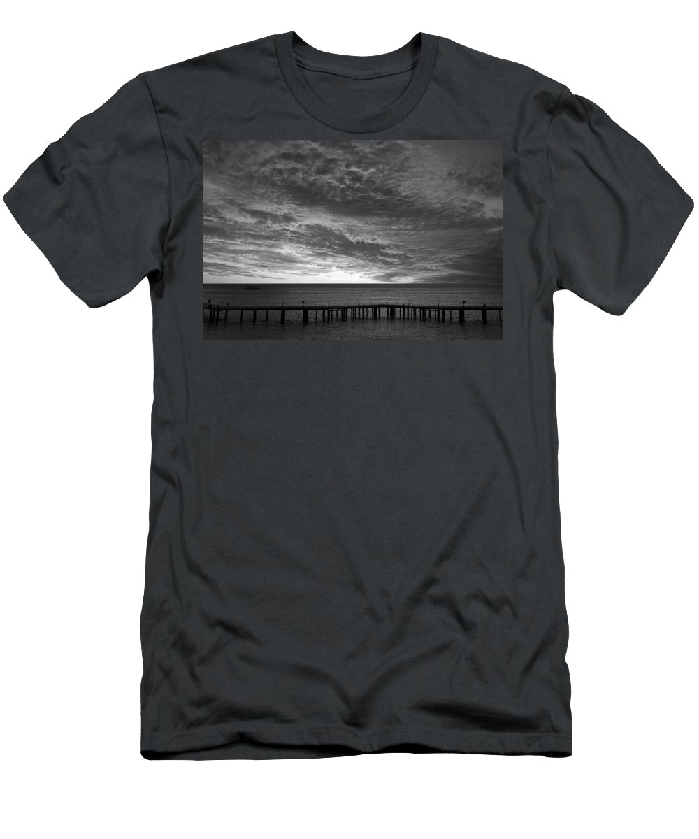 Sun Men's T-Shirt (Athletic Fit) featuring the photograph The Sunset by Munir Alawi