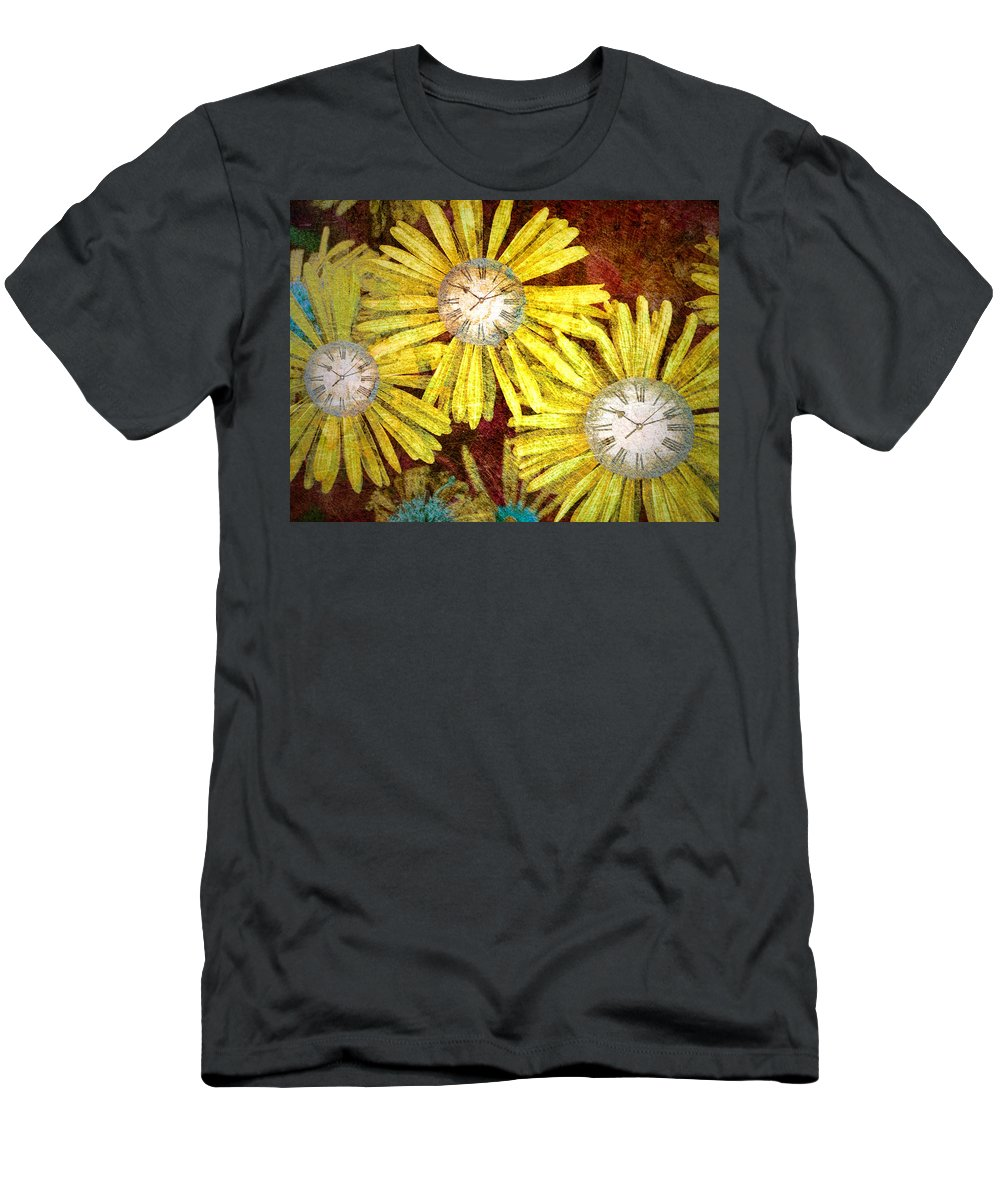 Flowers Men's T-Shirt (Athletic Fit) featuring the photograph The Time Flowers by Tara Turner