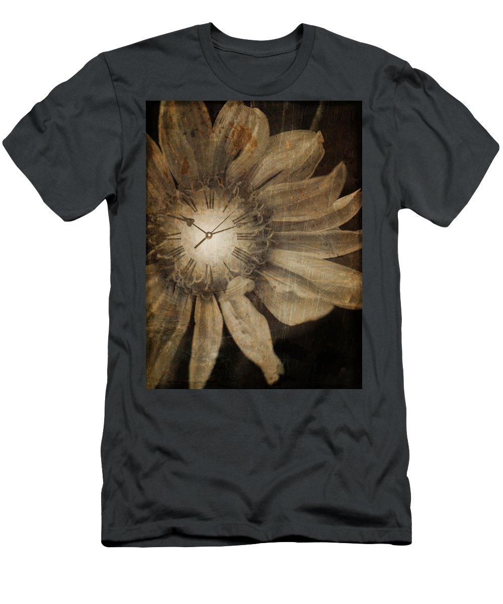 Clock Men's T-Shirt (Athletic Fit) featuring the photograph The Time Keeper by Tara Turner
