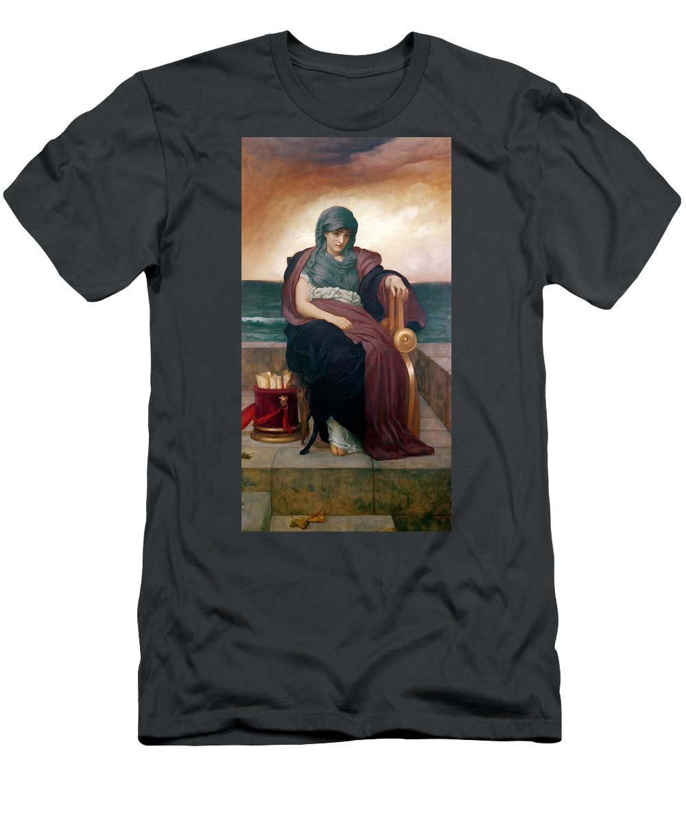 Tragic Men's T-Shirt (Athletic Fit) featuring the painting The Tragic Poetess by Frederic Leighton