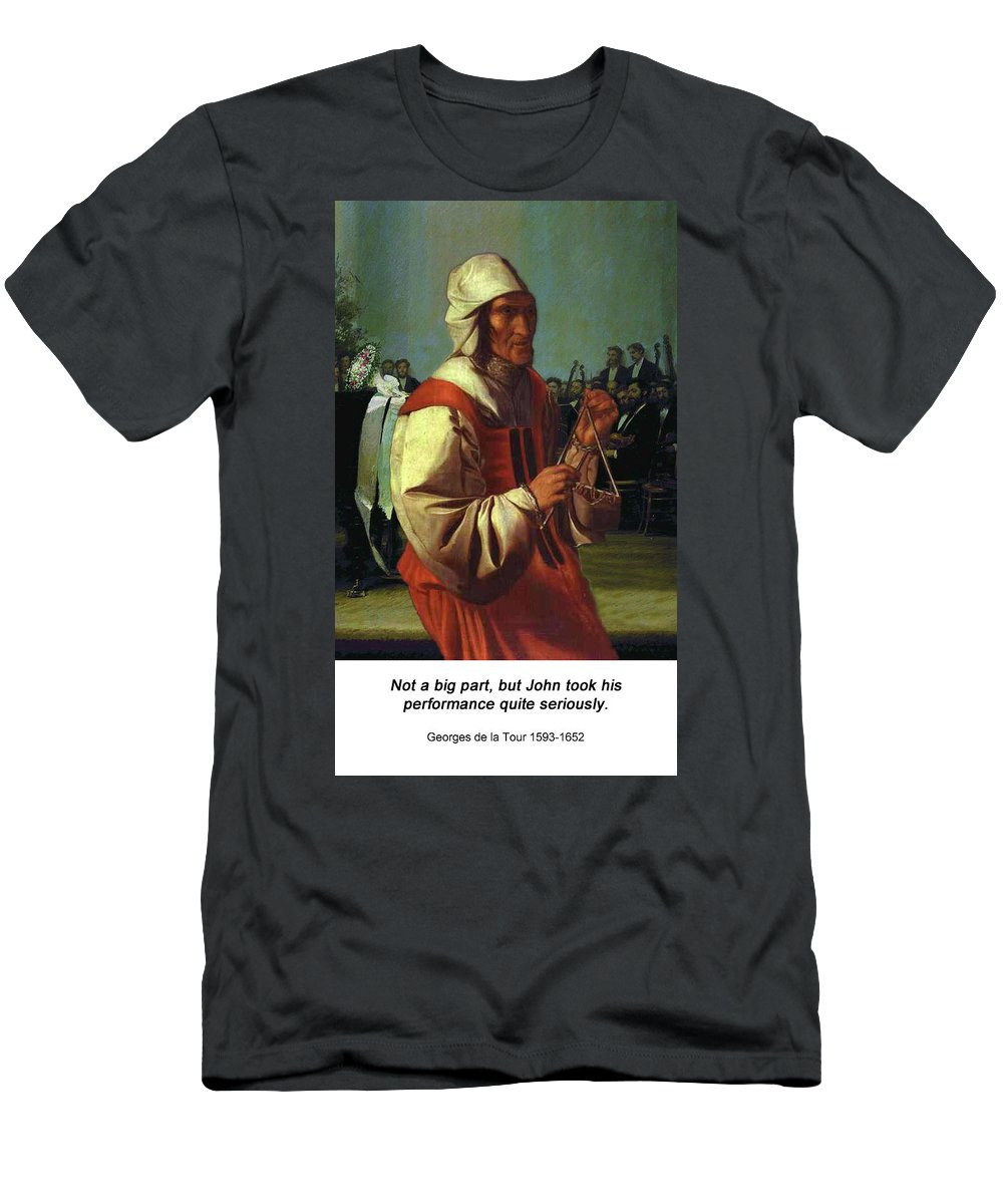 Altered Art Men's T-Shirt (Athletic Fit) featuring the digital art The Triangle Player by John Saunders