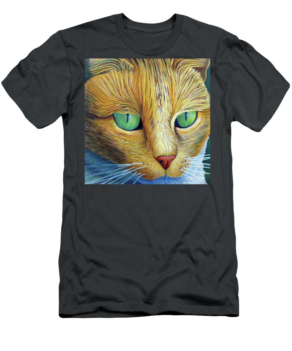 Cat Men's T-Shirt (Athletic Fit) featuring the painting The Truth Be Told by Brian Commerford