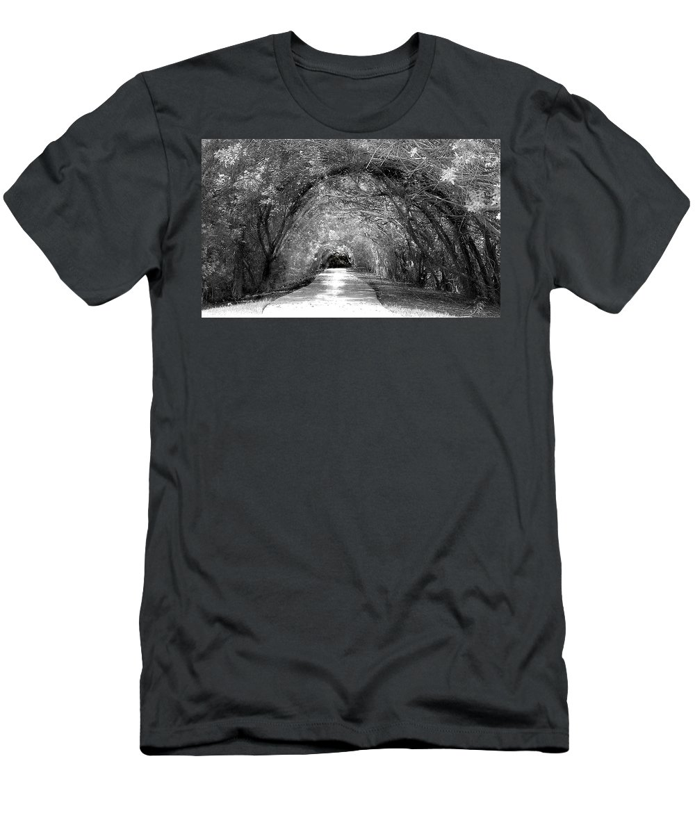B&w Men's T-Shirt (Athletic Fit) featuring the photograph The Unknown II by Tamivision