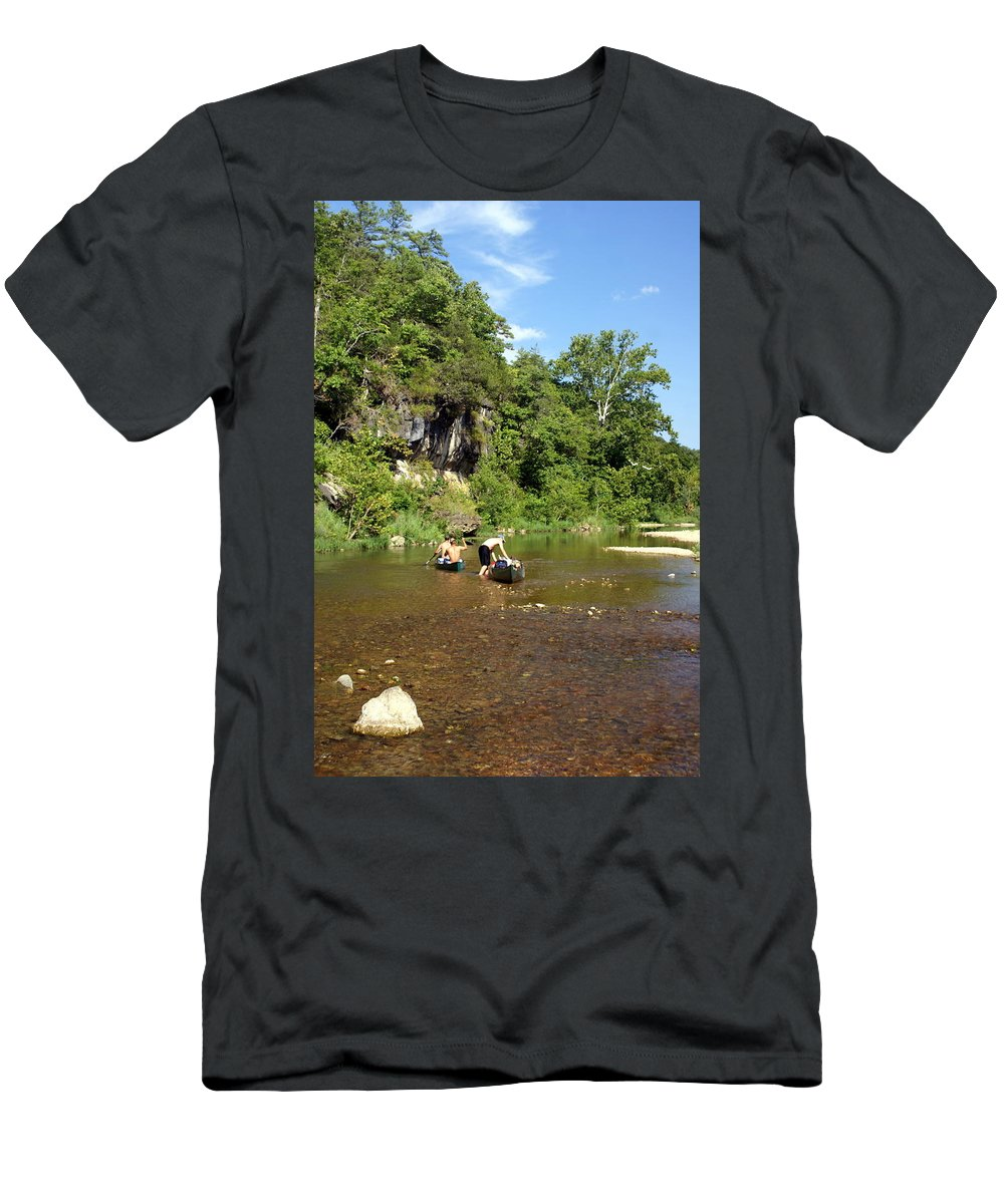 Jack's Fork River Men's T-Shirt (Athletic Fit) featuring the photograph The Upper Jack by Marty Koch