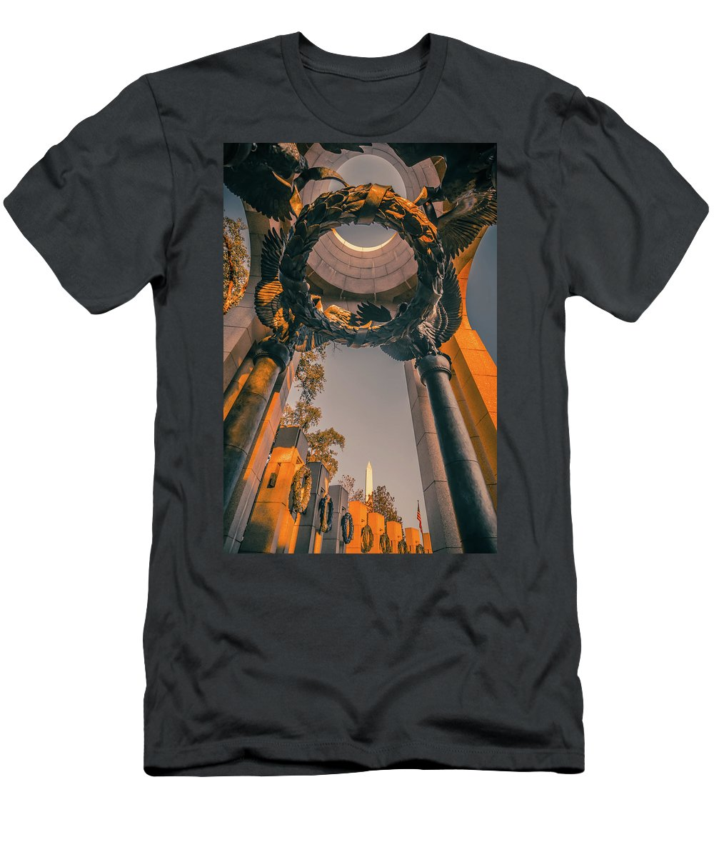 World Men's T-Shirt (Athletic Fit) featuring the photograph The U.s. National World War II Memorial In Washington Dc, Usa. I by Alex Grichenko