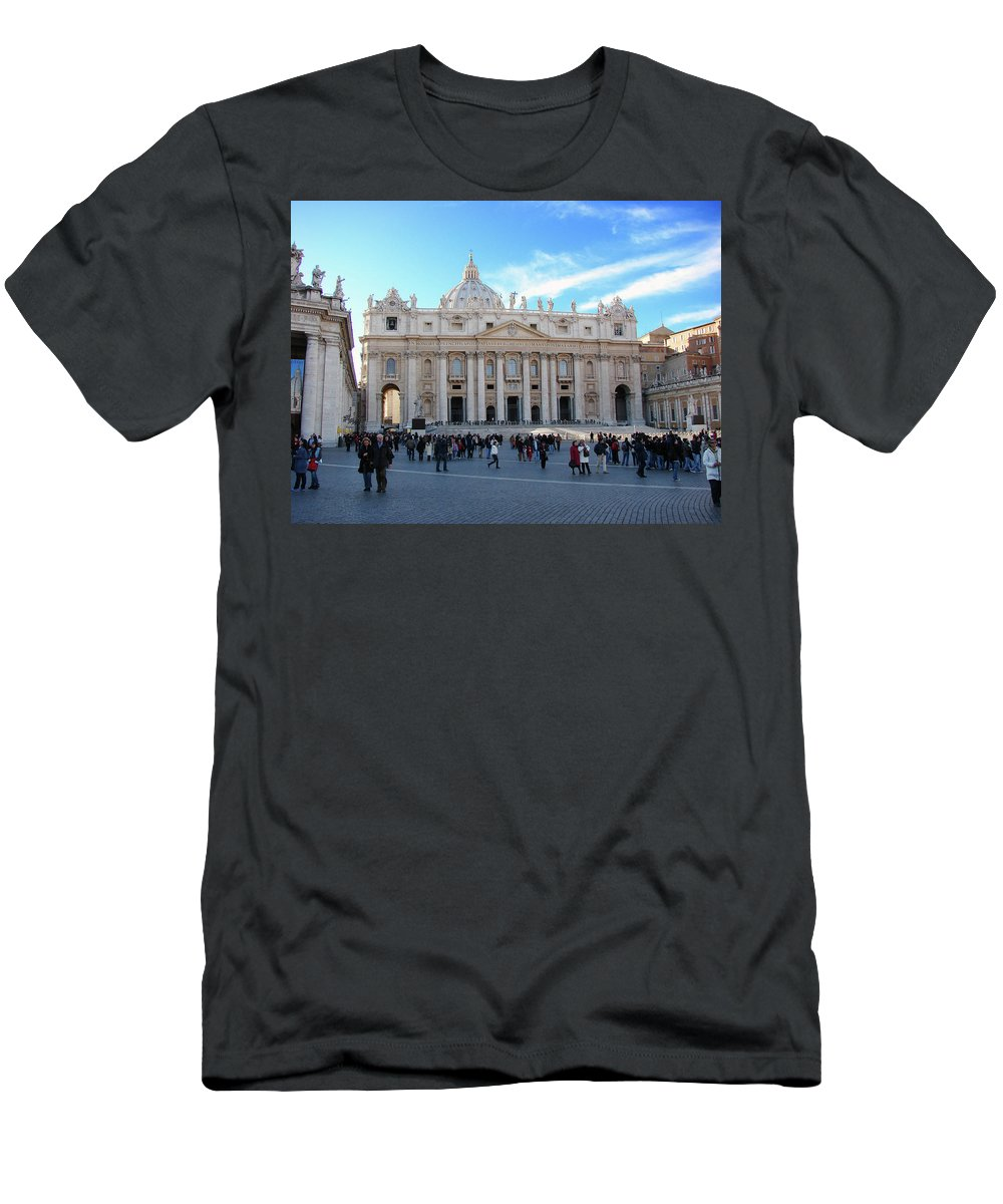 Vatican Men's T-Shirt (Athletic Fit) featuring the photograph The Vatican by Brett Winn