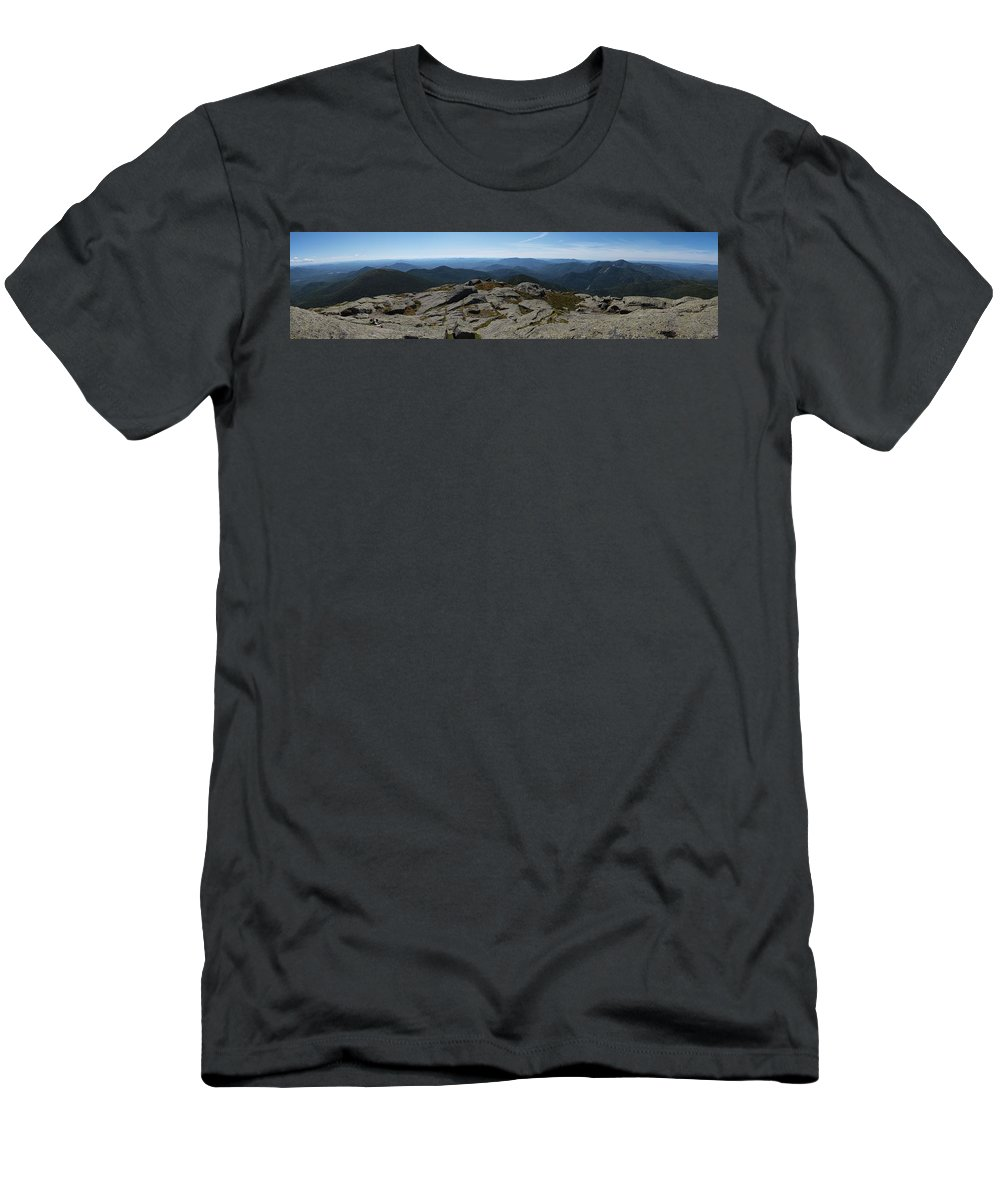 Adirondacks Men's T-Shirt (Athletic Fit) featuring the photograph The View North From Mt. Marcy by Joshua House