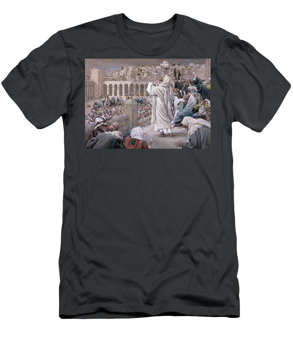 The Men's T-Shirt (Athletic Fit) featuring the painting The Voice From Heaven by Tissot