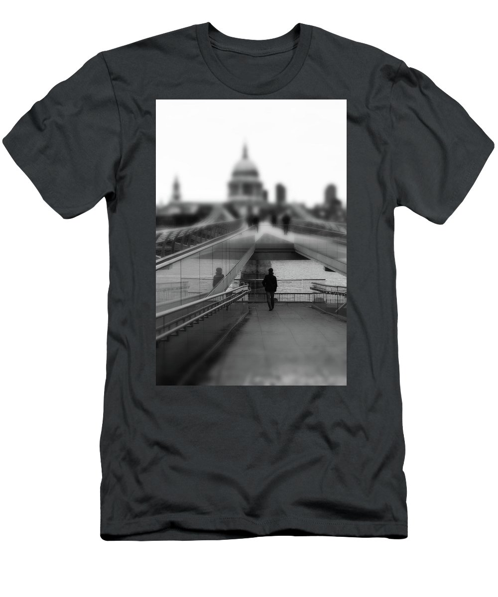 Landscape Men's T-Shirt (Athletic Fit) featuring the photograph The Walk by Martin Newman