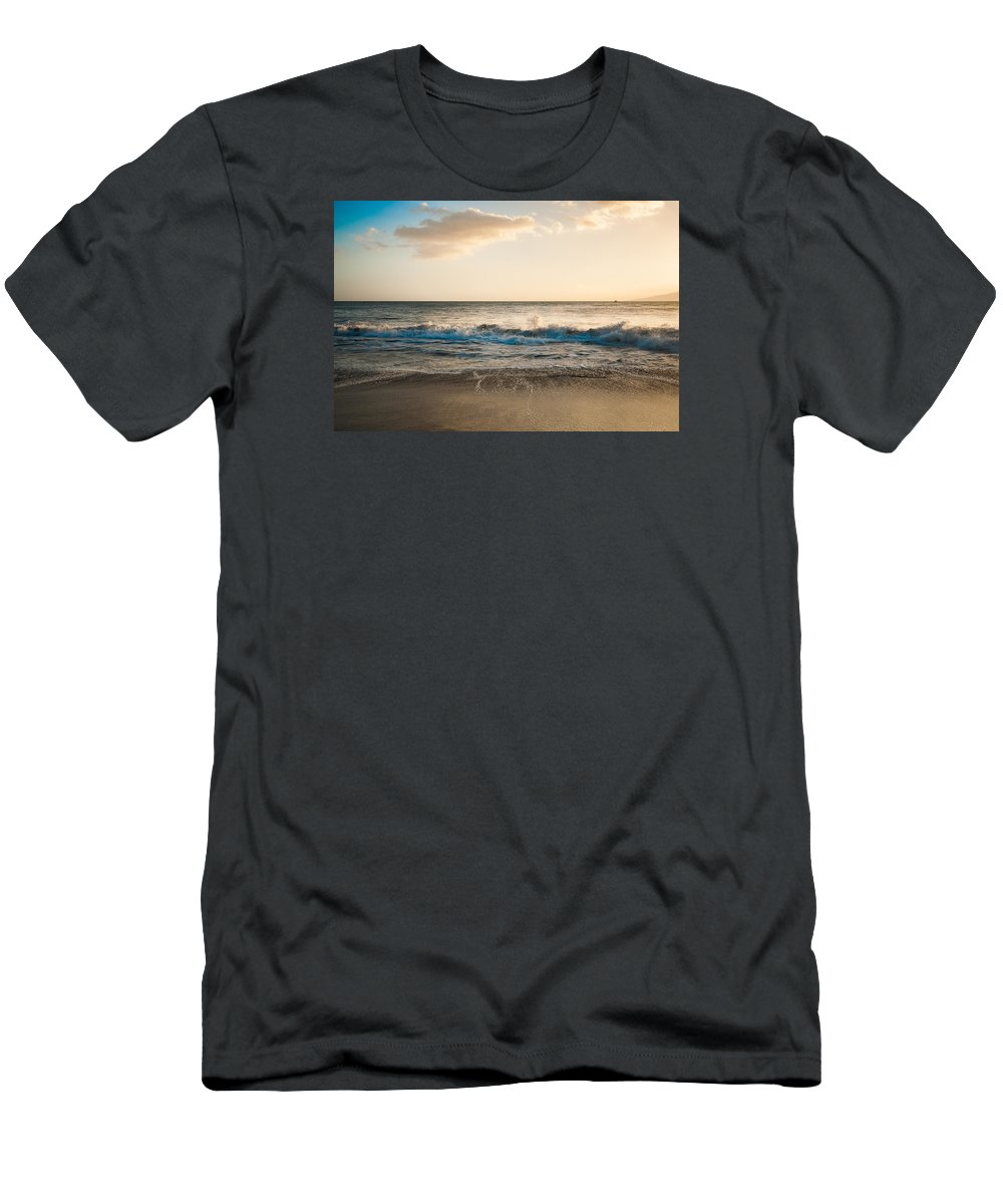 Wave Men's T-Shirt (Athletic Fit) featuring the photograph The Wave by Lisa Puaa