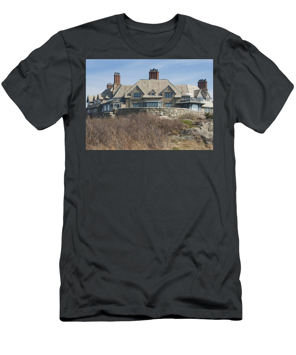 Newport Men's T-Shirt (Athletic Fit) featuring the photograph The Waves by Steven Natanson