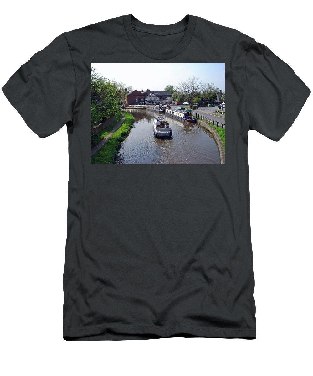 Europe Men's T-Shirt (Athletic Fit) featuring the photograph The Wharf - Shardlow by Rod Johnson