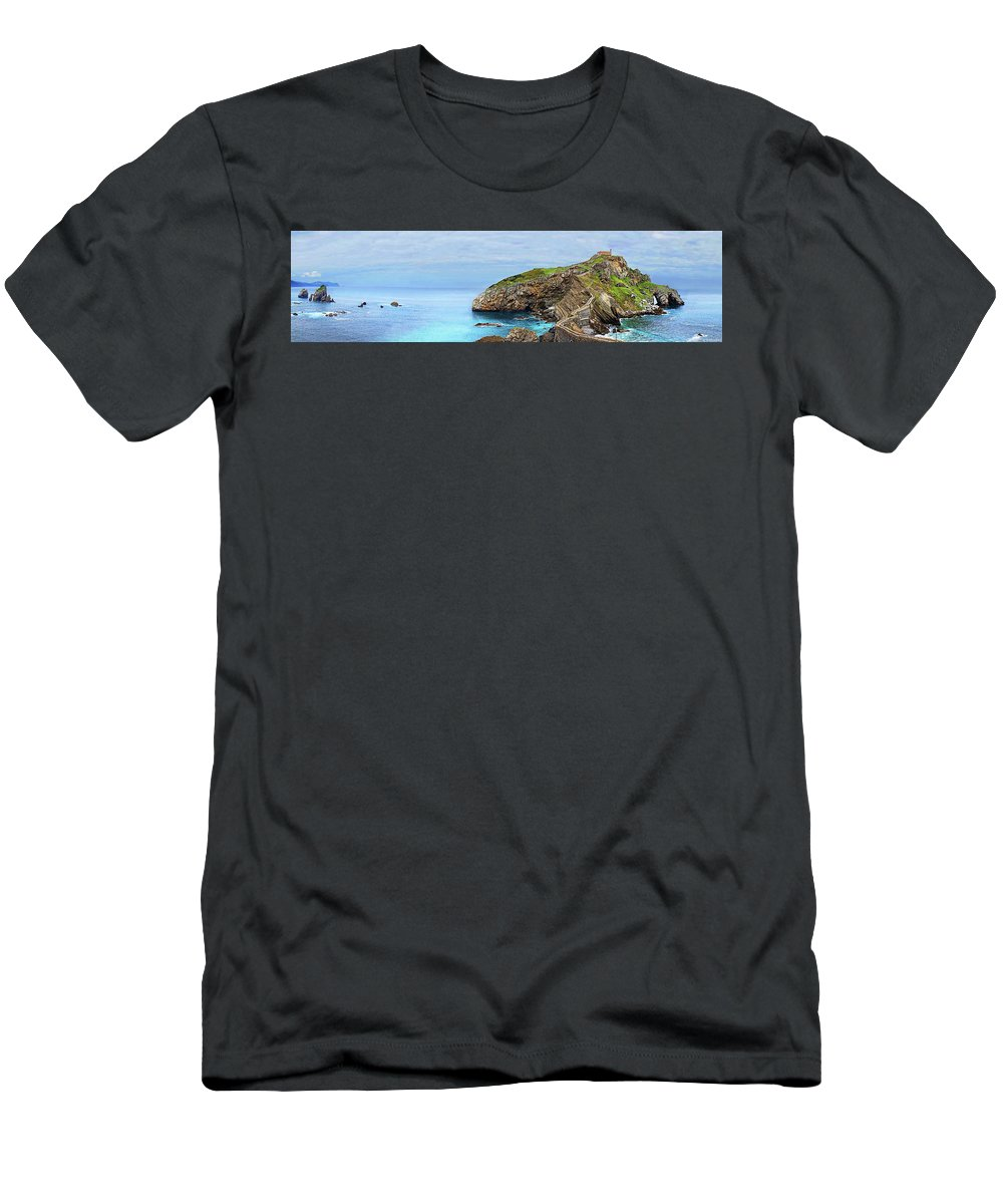 Game Of Thrones Men's T-Shirt (Athletic Fit) featuring the photograph The Winding Staircase Medium Version by Weston Westmoreland