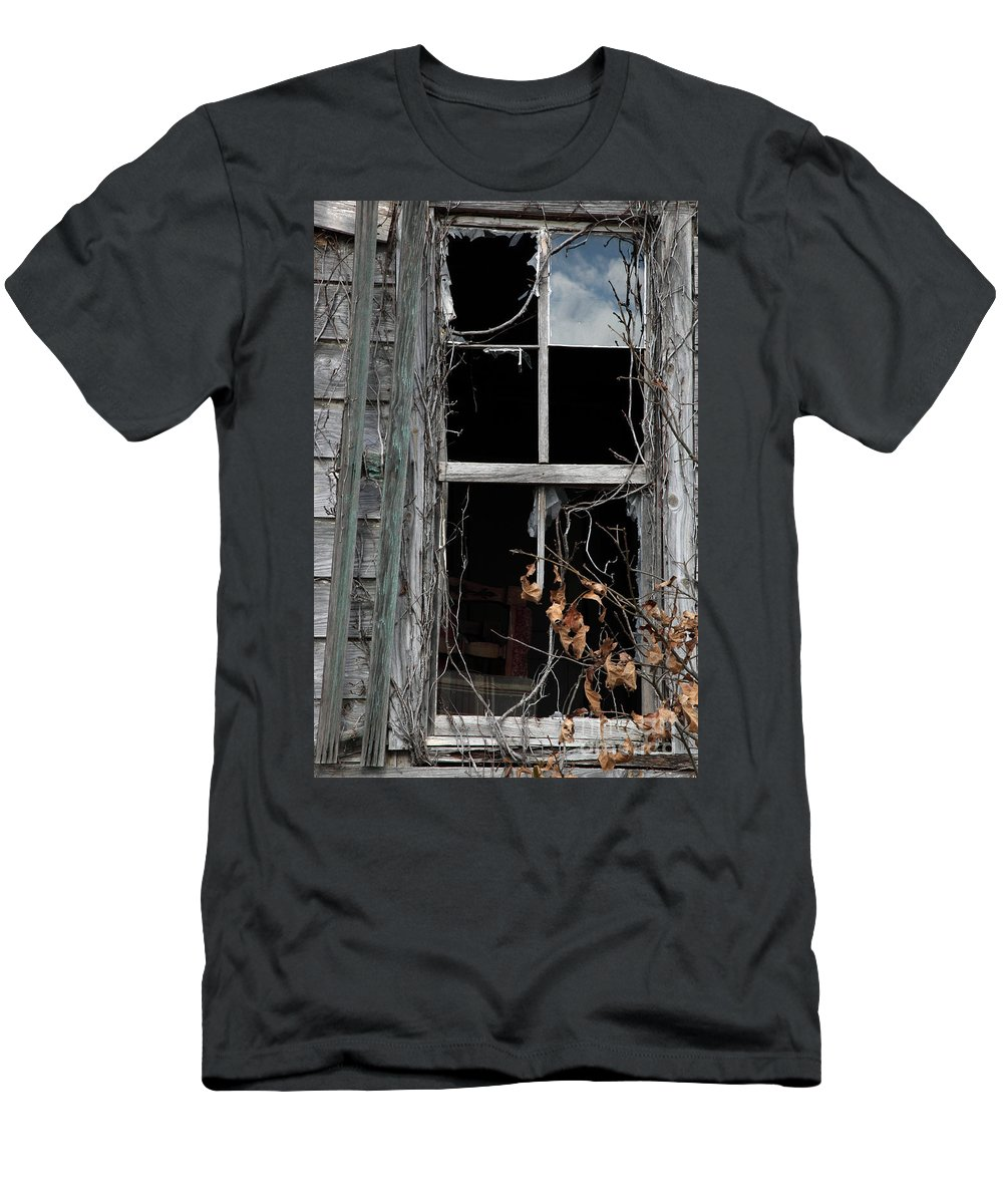 Windows Men's T-Shirt (Athletic Fit) featuring the photograph The Window by Amanda Barcon