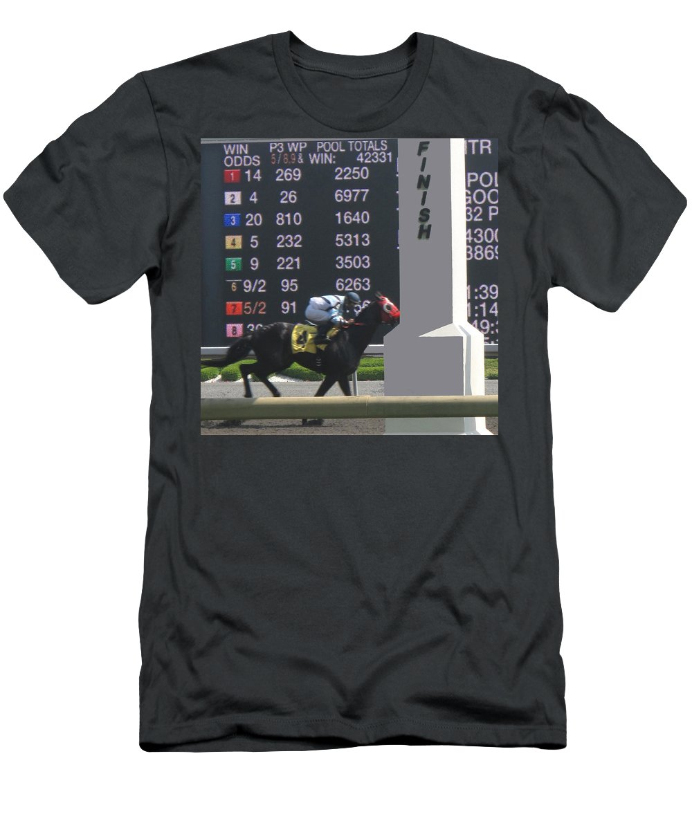 Horse Men's T-Shirt (Athletic Fit) featuring the photograph The Winner by Ian MacDonald