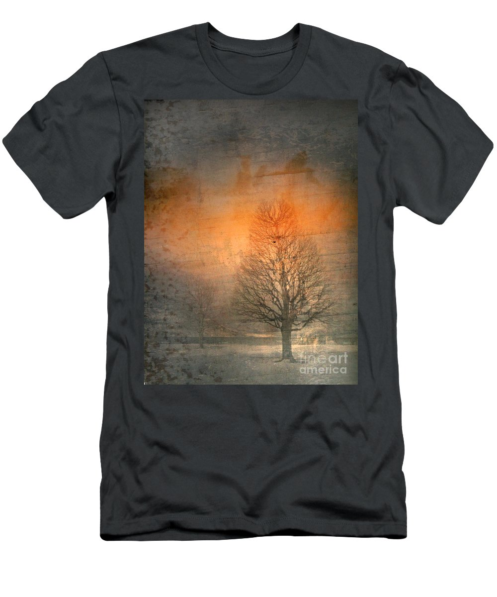 Tree Men's T-Shirt (Athletic Fit) featuring the photograph The Winter Still by Tara Turner