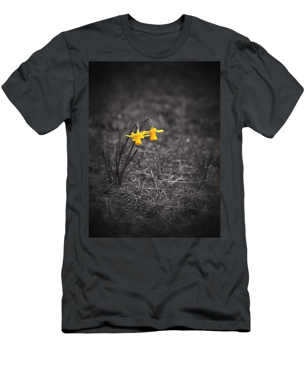 Selective Colors Men's T-Shirt (Athletic Fit) featuring the photograph The World Around Us by Rachel Mirror