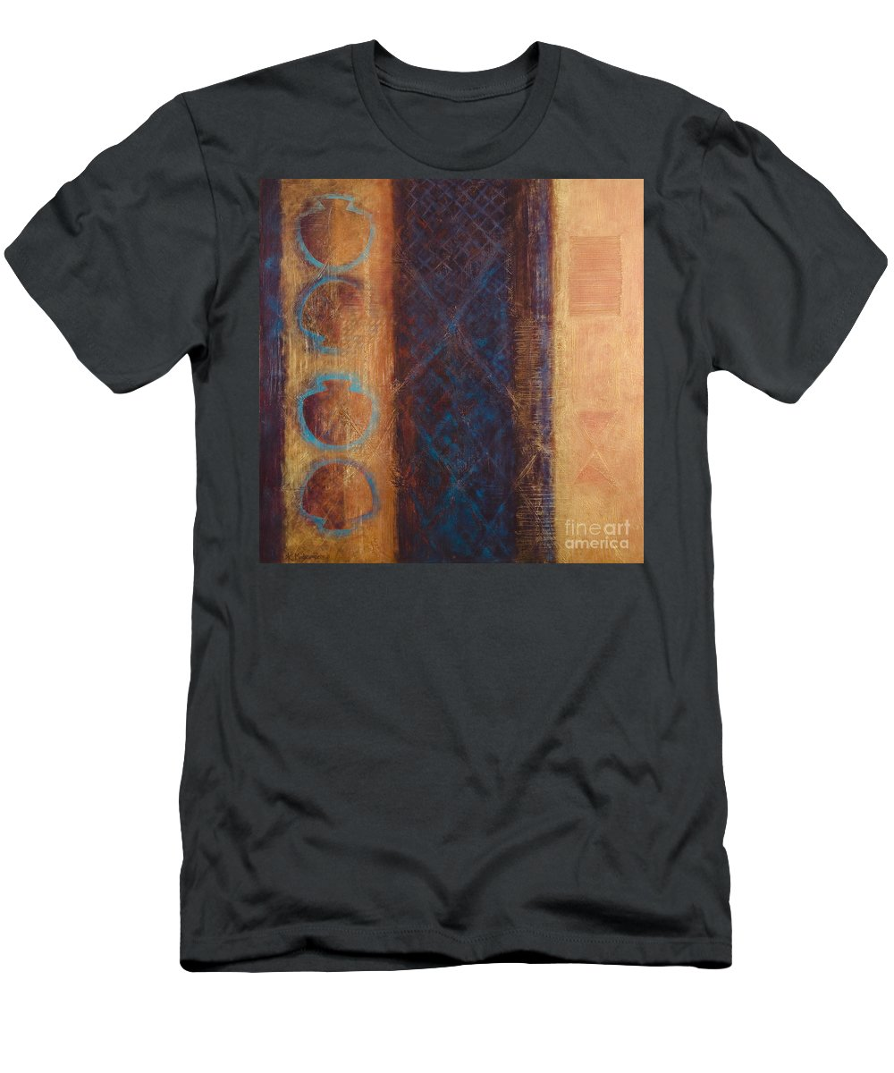 Abstract T-Shirt featuring the painting The X Factor Alchemy of Consciousness by Kerryn Madsen-Pietsch