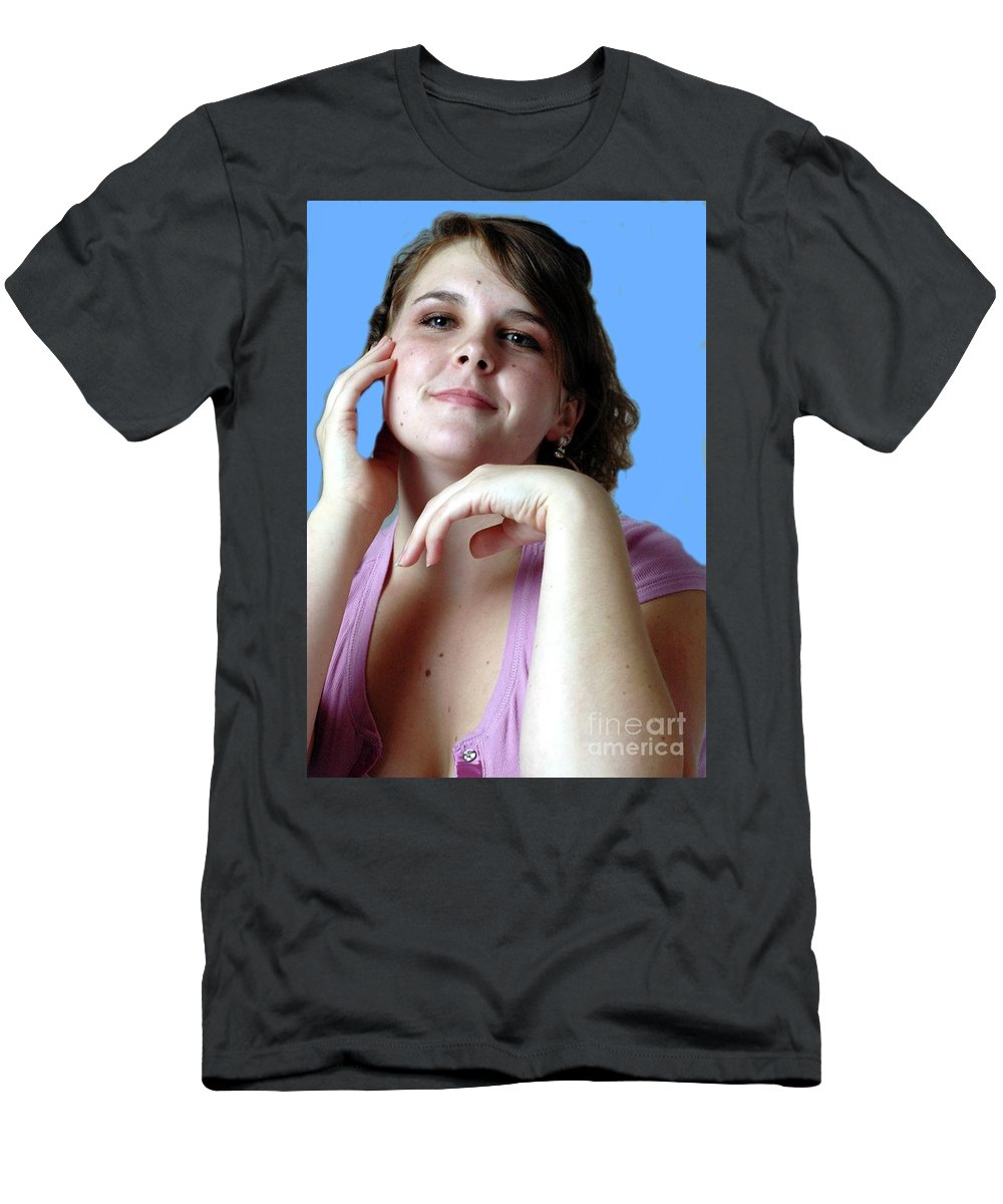 Female Men's T-Shirt (Athletic Fit) featuring the photograph Thinking by Kathleen Struckle