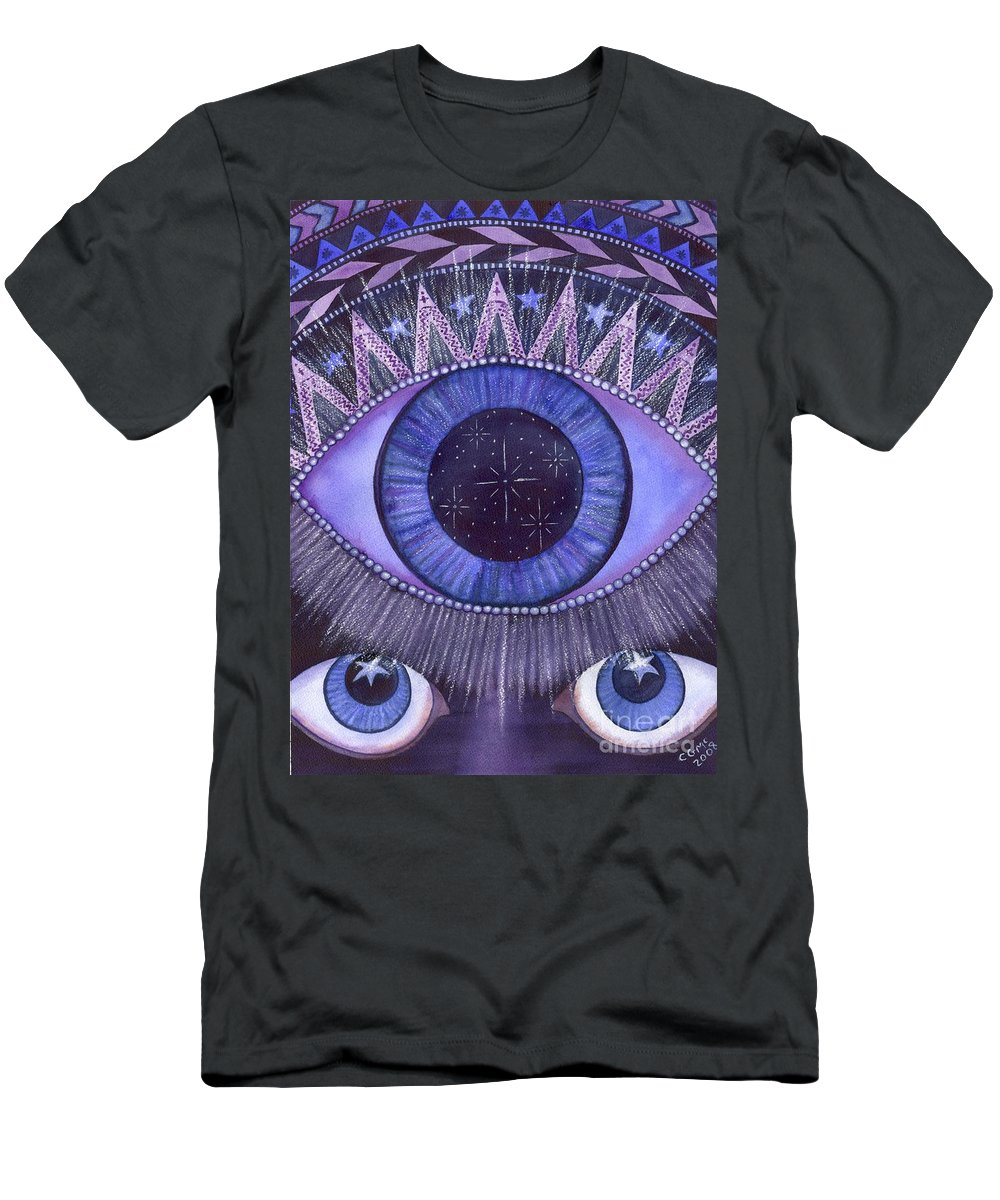 Thrid Eye Men's T-Shirt (Athletic Fit) featuring the painting Third Eye Chakra by Catherine G McElroy