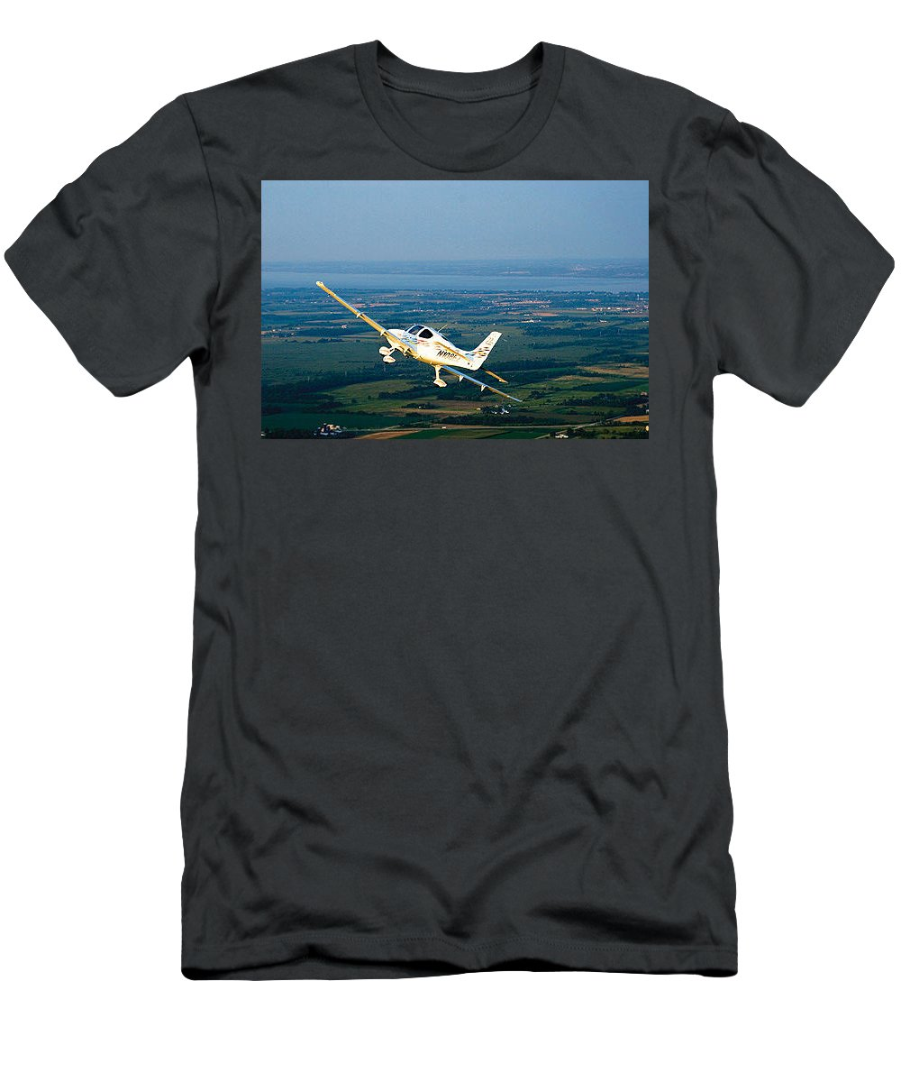 Men's T-Shirt (Athletic Fit) featuring the photograph This Guide Can Help You Fly An Airplane Confidently by Kim Bishop