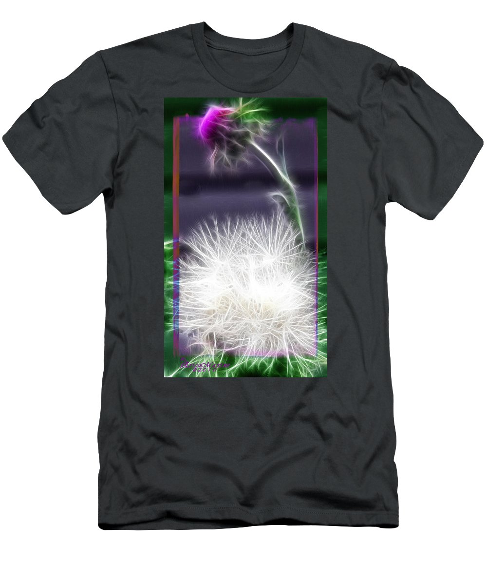 Plant Men's T-Shirt (Athletic Fit) featuring the photograph Thistle by Ericamaxine Price