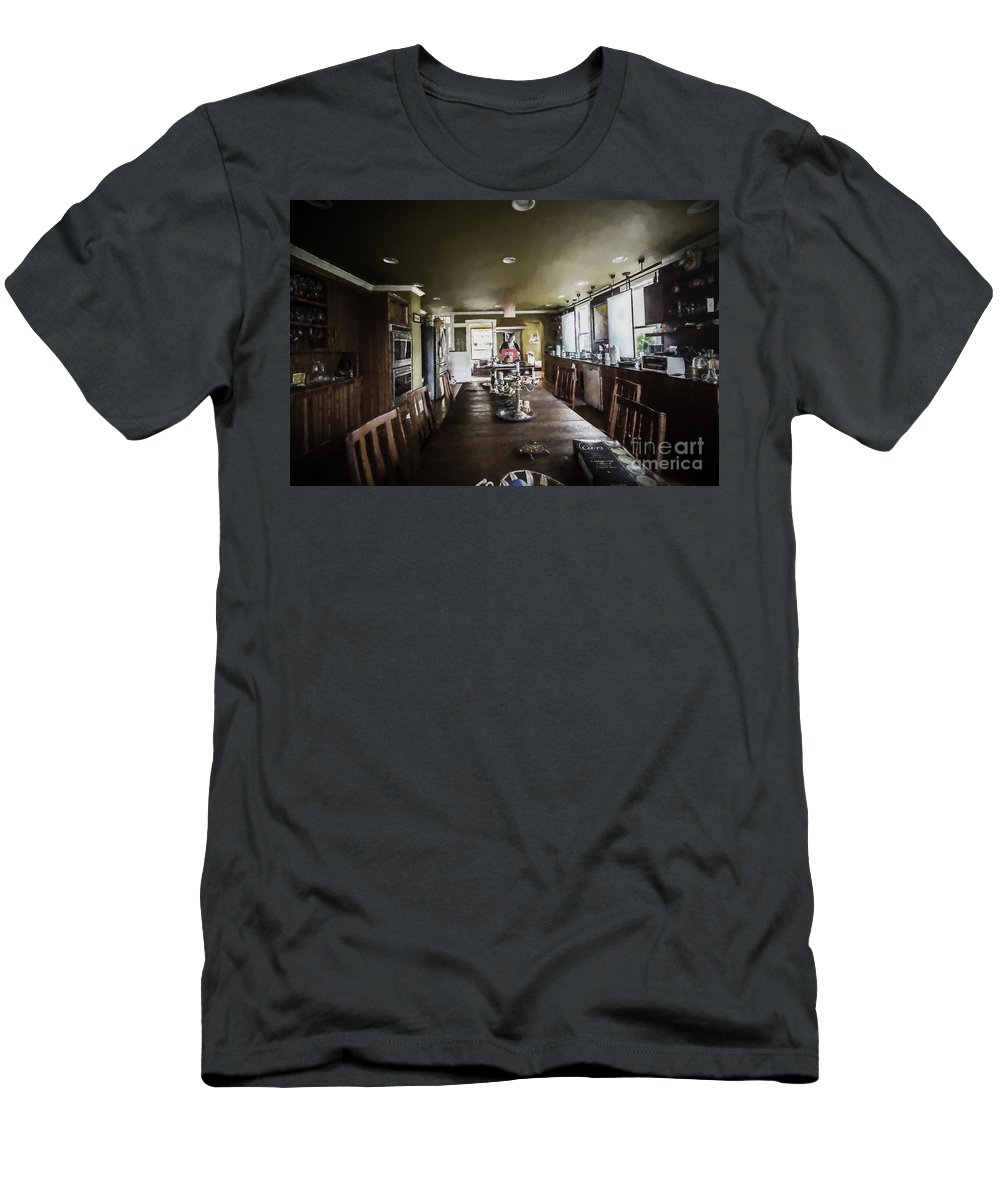 Architectural Interior Photography Men's T-Shirt (Athletic Fit) featuring the photograph Thomas Kitchen In Artistic Version by Doug Berry