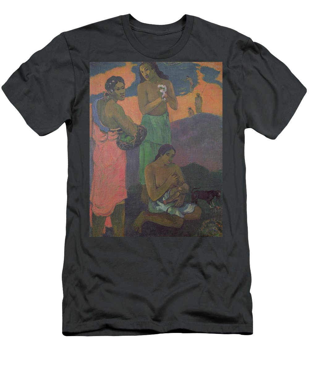 Maternity Men's T-Shirt (Athletic Fit) featuring the painting Three Women On The Seashore by Paul Gauguin