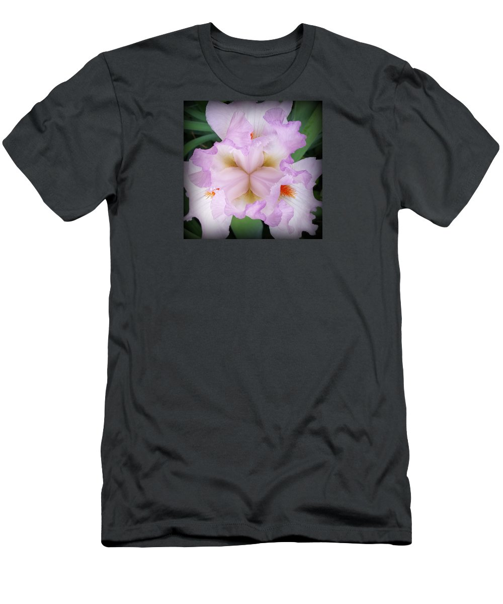 Iris Men's T-Shirt (Athletic Fit) featuring the photograph Thrill Of The Frill by Charlene Salb