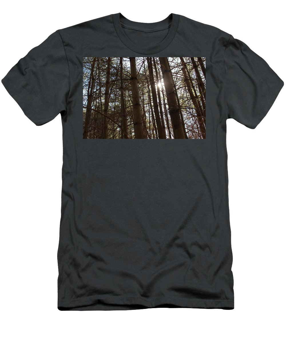 Photography Men's T-Shirt (Athletic Fit) featuring the photograph Through The Trees by Alexander Keith