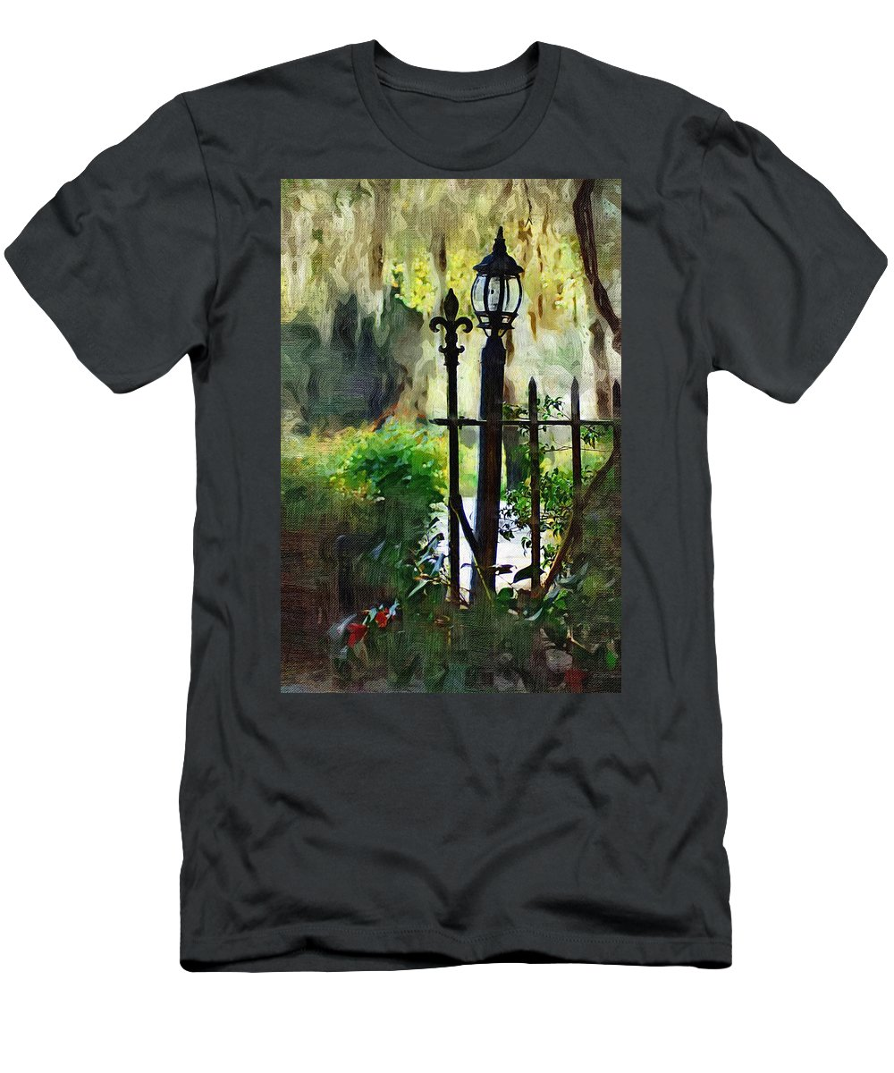 Gate Men's T-Shirt (Athletic Fit) featuring the digital art Thru The Gate by Donna Bentley