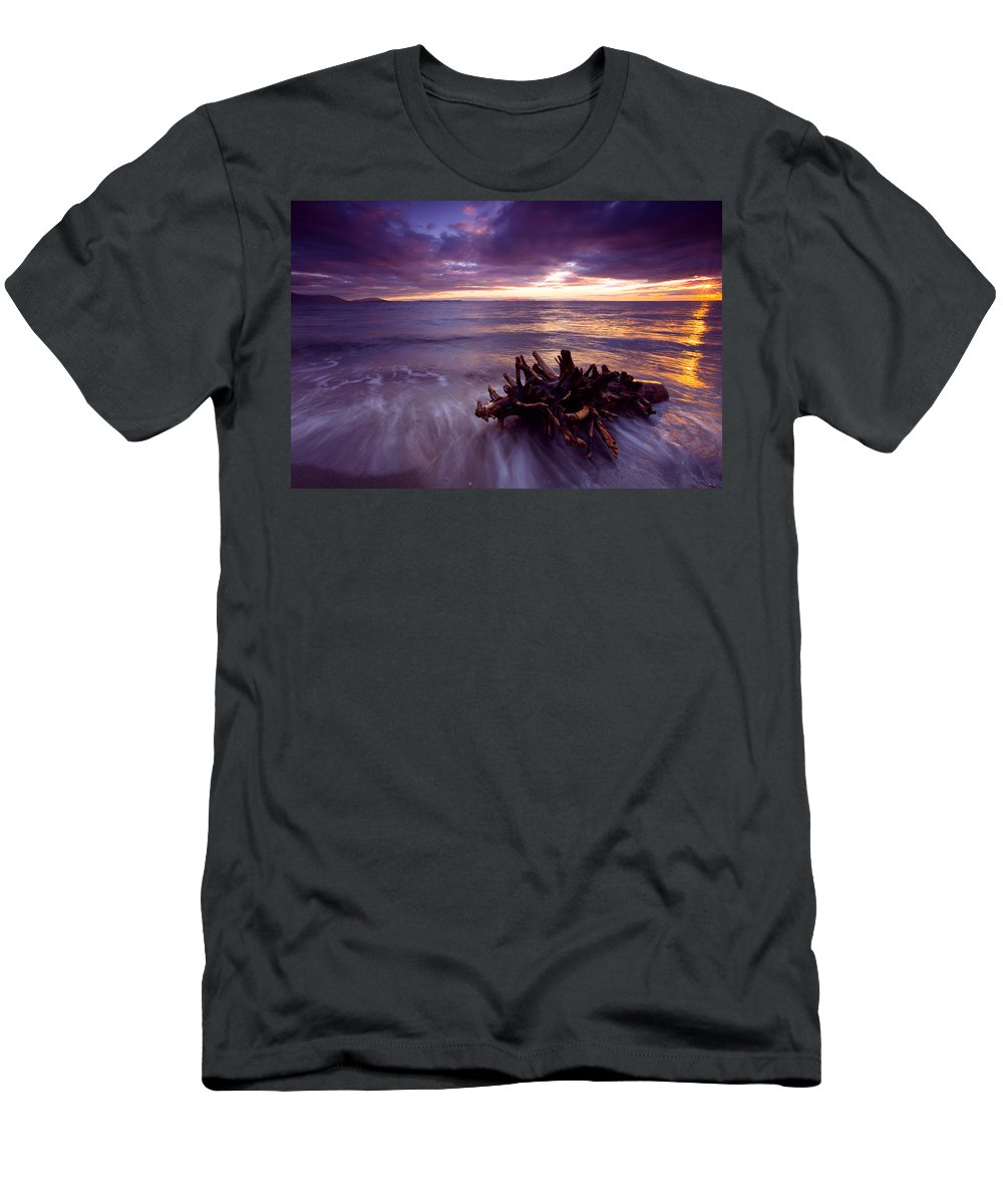Sunset Men's T-Shirt (Athletic Fit) featuring the photograph Tide Driven by Mike Dawson