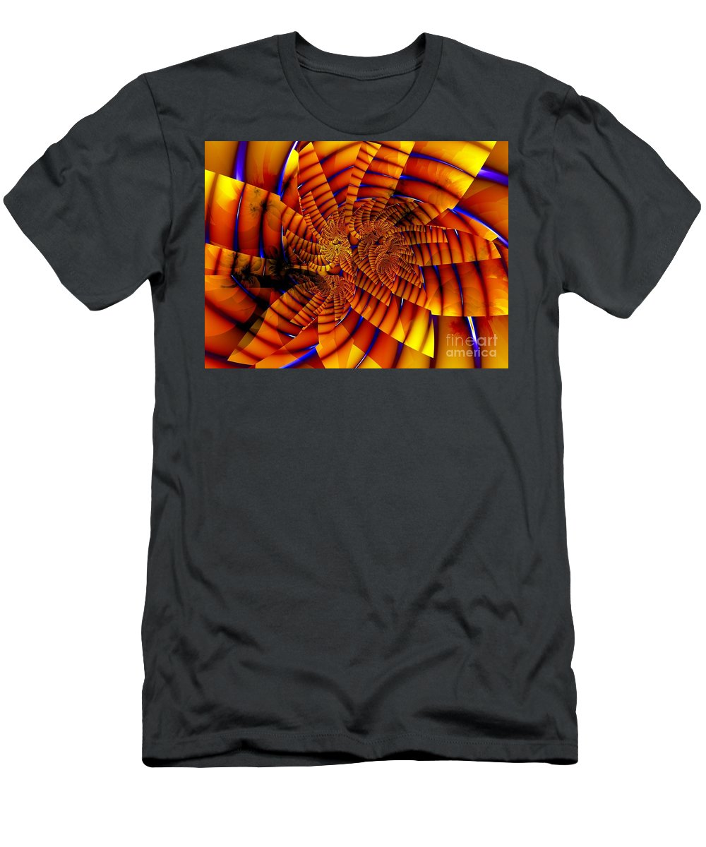 Flower T-Shirt featuring the digital art Tiger Lily by Ron Bissett
