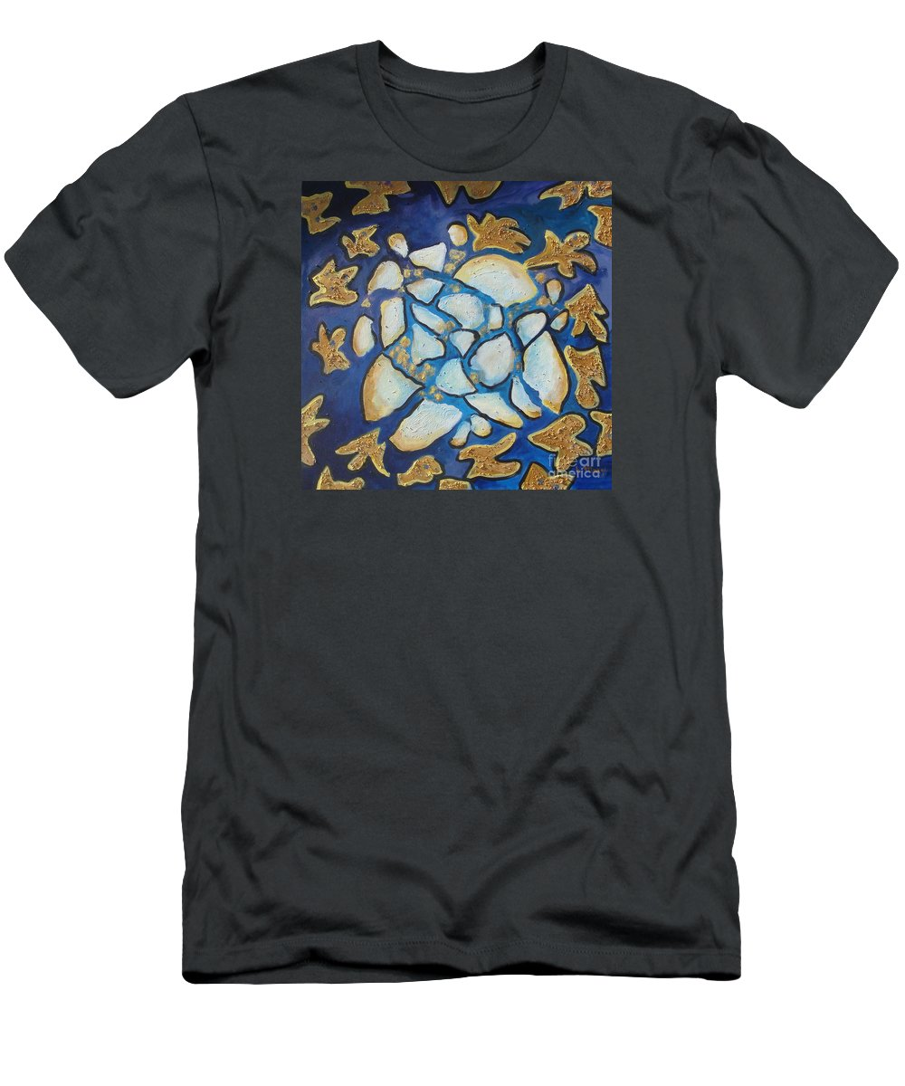 Abstract Men's T-Shirt (Athletic Fit) featuring the painting Tikkun Olam Heal The World by Laurie Morgan