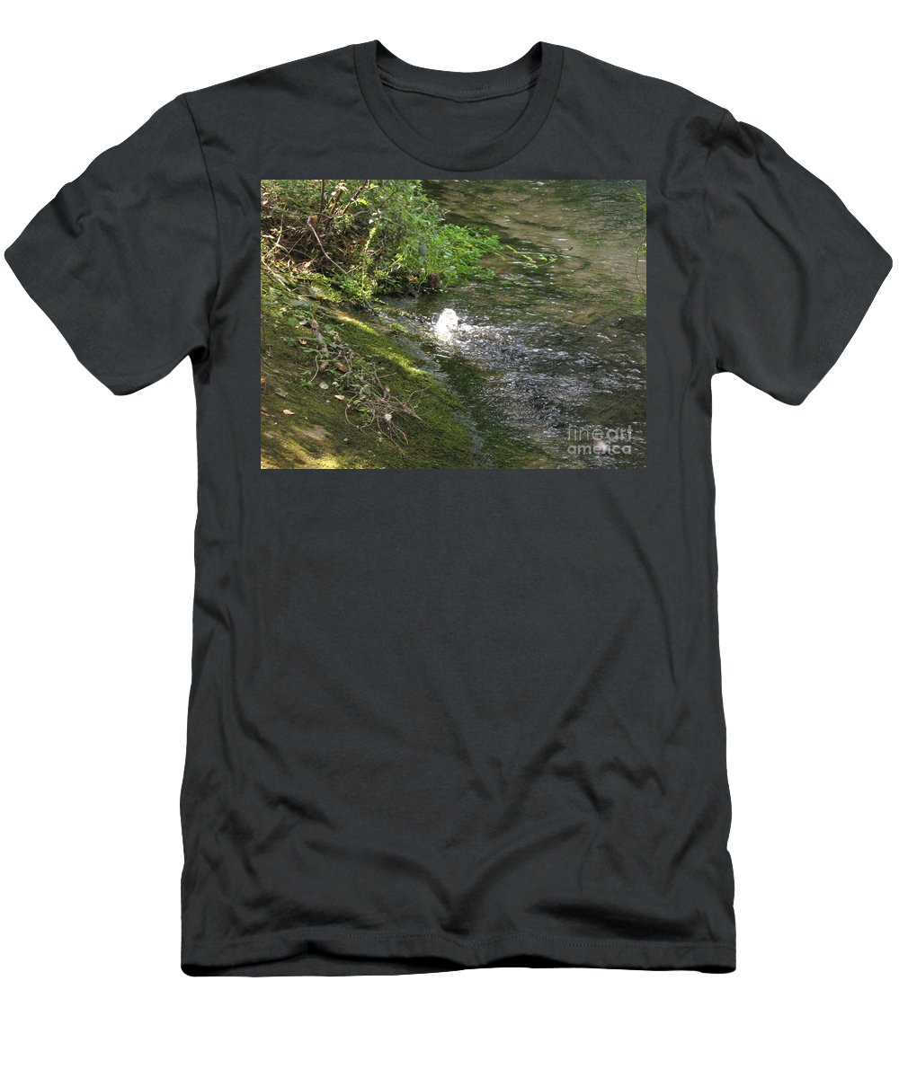 River Men's T-Shirt (Athletic Fit) featuring the photograph Timava's Spring I by Dragica Micki Fortuna
