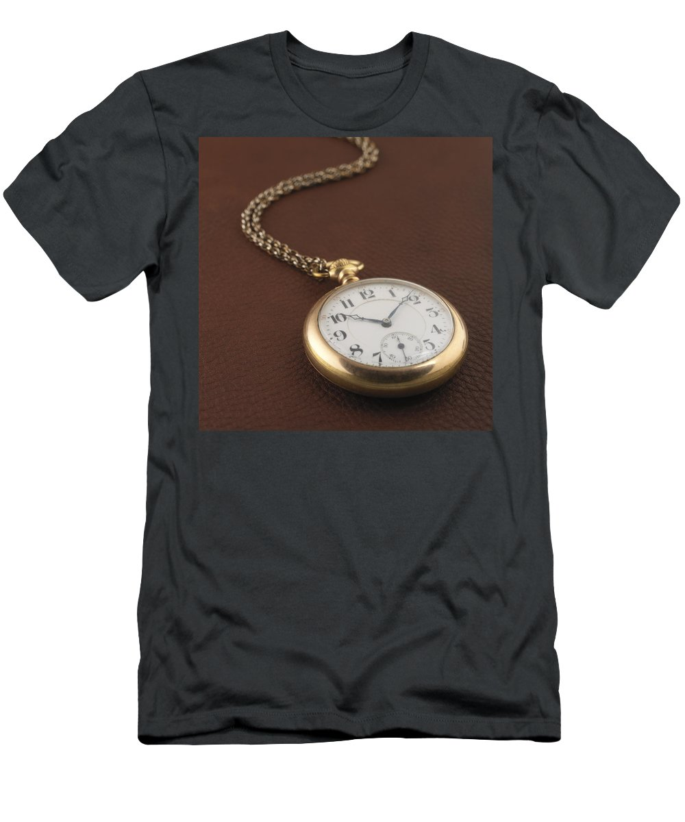 Pocket Watch Men's T-Shirt (Athletic Fit) featuring the photograph Time by Jerry McElroy