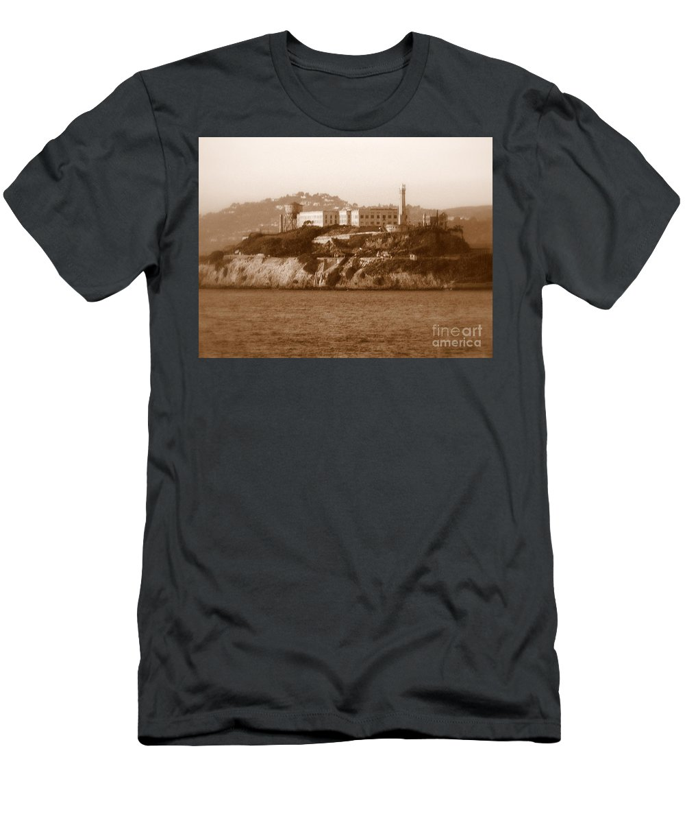 San Francisco Men's T-Shirt (Athletic Fit) featuring the photograph Timeless Alcatraz by Carol Groenen