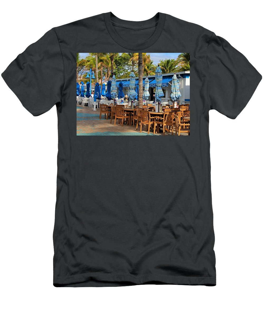 Times Square Men's T-Shirt (Athletic Fit) featuring the photograph Times Square Of Ft Myers by Michiale Schneider