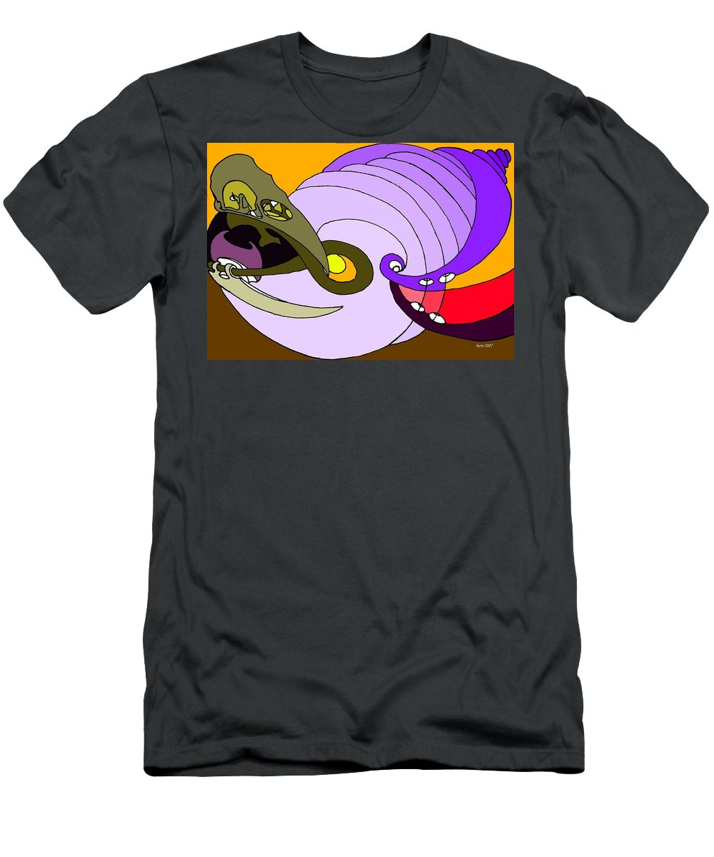 Timespiral Men's T-Shirt (Athletic Fit) featuring the mixed media Timespiral by Helmut Rottler