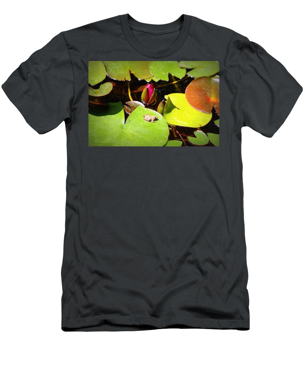 Frog Men's T-Shirt (Athletic Fit) featuring the photograph Tiny Frog by Tina Meador