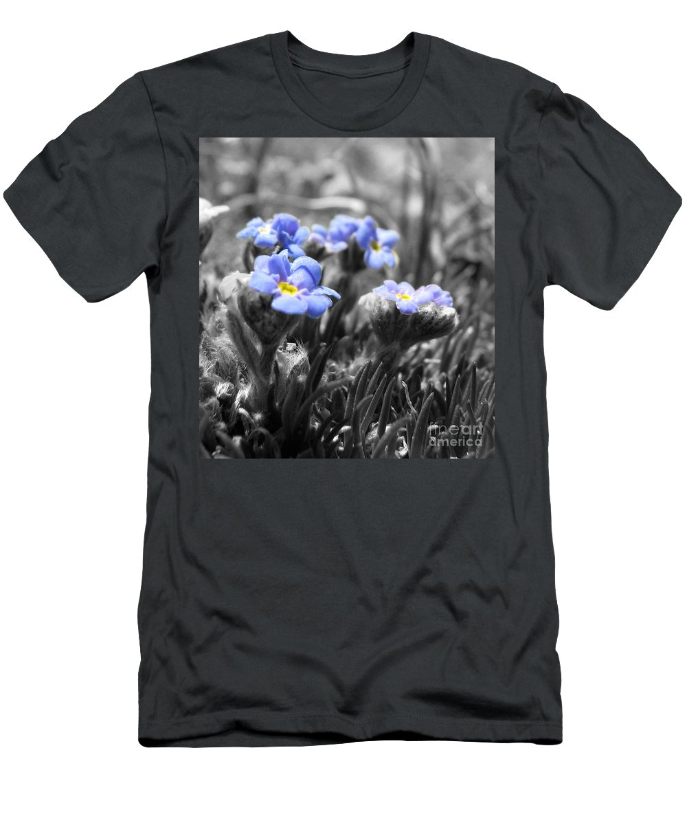 Flowers Men's T-Shirt (Athletic Fit) featuring the photograph Tiny Gems by Amanda Barcon