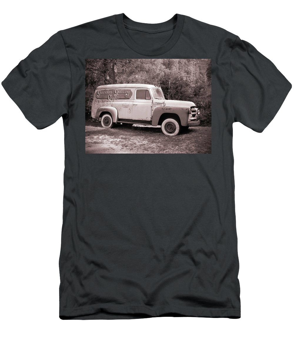 Clunker Men's T-Shirt (Athletic Fit) featuring the photograph Tired Clunker by Frank Castillo
