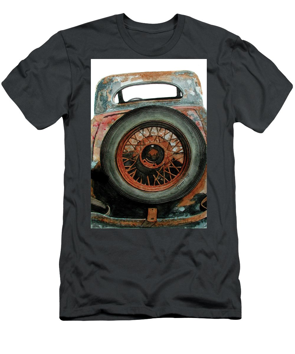 Car Men's T-Shirt (Athletic Fit) featuring the painting Tired by Ferrel Cordle