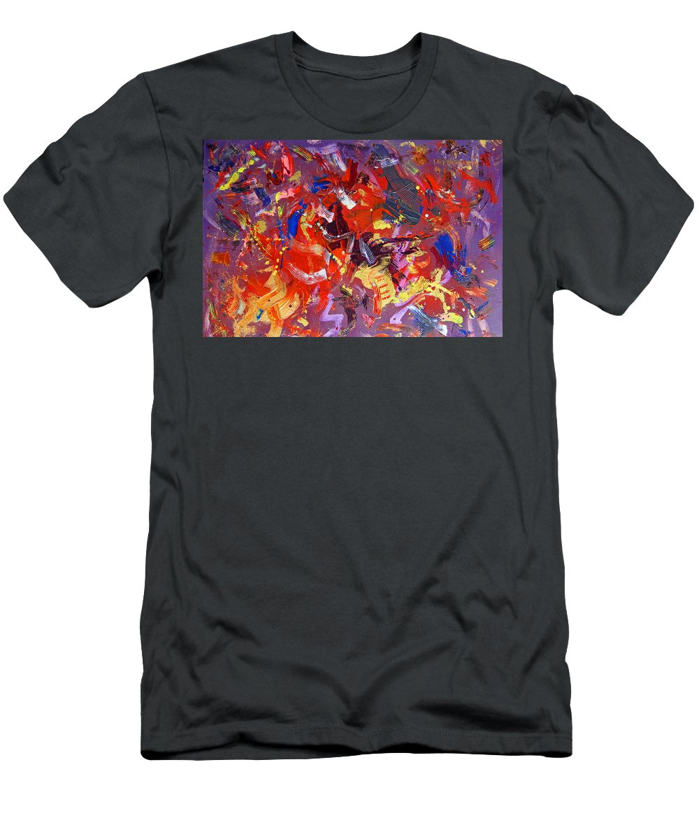 Abstract Men's T-Shirt (Athletic Fit) featuring the painting To Voice by Robert W Dunlap