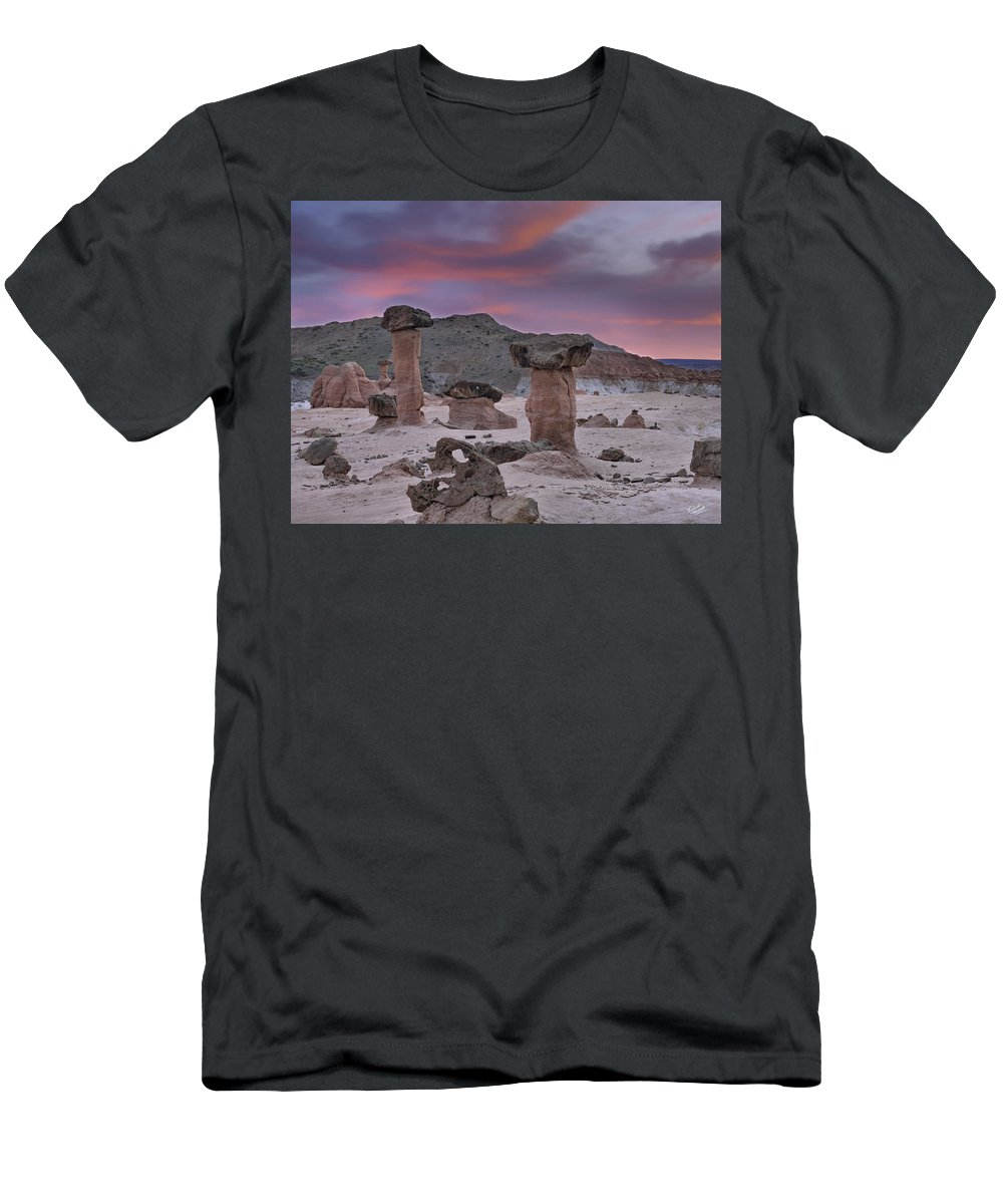 Balance Men's T-Shirt (Athletic Fit) featuring the photograph Toadstools by Leland D Howard