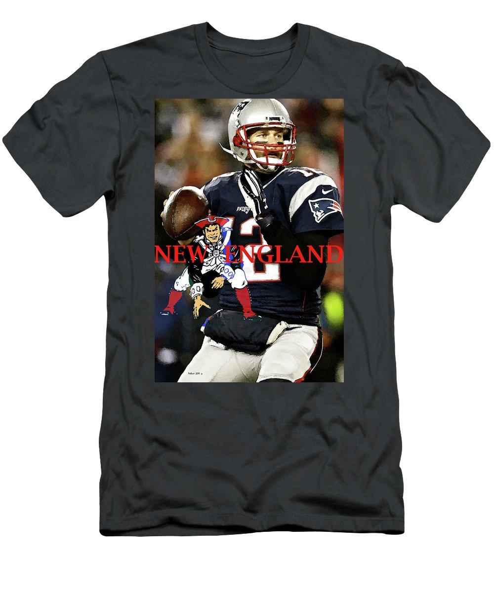 Tom Brady, number 12, New England Patriots, Captain America T-Shirt